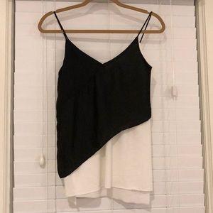 Zara Black and White Camisole Blouse
